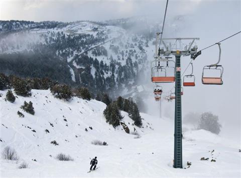 skiing in cyprus