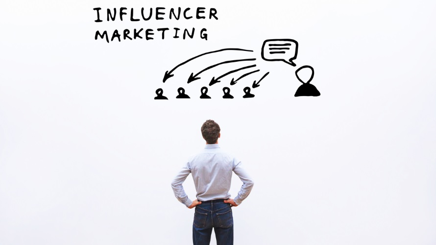 influencer marketing concept in business